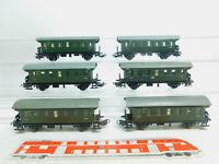 BM80-1# 6x Märklin H0/AC 4002 Blech-Personenwagen 2. Klasse