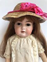 "Antique German 29"" Armand Marseille AM 13 390 (?) Bisque Head Doll Wood Body"