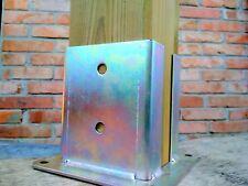 Staffa a bicchiere aperto per fissaggio su cemento, portapilastro per legno