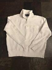 Vintage Polo Ralph Lauren White Half Zip Pullover Sweatshirt Second 7 Logo Sz XL