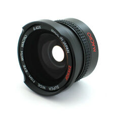 Wide Angle .42X Fisheye Lens for 30.5mm & 37mm Digital Camcorder Camera, New