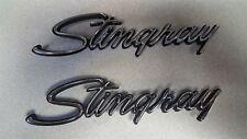 74-76 Corvette C3 Fender PAIR Emblems STINGRAY Chrome NEW GM Licensed SET OF TWO