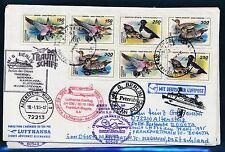 81721) LH FF Frankfurt - Bogota 29.10.95, Brf SP ab St.Petersburg Rußland bird