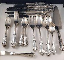 International Sterling Silver Joan Of Arc  Flatware Set 8 Service 38 Pieces
