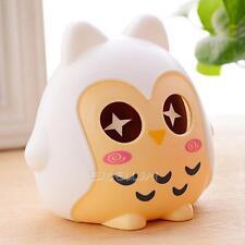 Cute Plastic Animal Owl Piggy Bank Saving Cash Money Coin Box Kids Child Gift