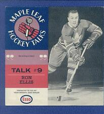 1966-67 ESSO TORONTO MAPLE LEAFS Hockey Talks #9 RON ELLIS Record BLACK RARE