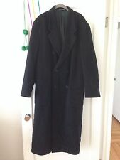 GIORGIO ARMANI-MANI Black 100% pure virgin wool Long Mens Overcoat