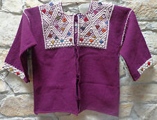 Mexican Sweater Jacket Handwoven Wool from Chiapas Mexico XXL
