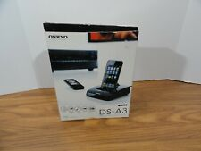 ONKYO DS-A3  INTERACTIVE DOCK FOR IPOD  IPHONE NEW with Remote