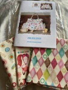 Sewing Pattern And Fabric Cross Patch Bag New