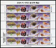 Korea Süd 2000 Haarschmuck Hair Ornaments Kamm Nadeln 2128-2131 Kleinbogen MNH