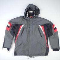 MAIER Ski Jacket Size M eu 50 Grey Red Mens 5000mm Waterproof Winter Coat