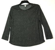 BLACK WHITE SPOTTY LADIES CASUAL TOP BLOUSE SIZE M H&M