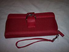 "Mundi Red Nylon PhotoFlips Organizer Wristlet, 8"" x 4"",Zip Coin Pocket on Back"