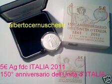 5 euro Italia 2011 argento FDC 150 Unità Italie Italien Italy Италия