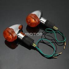 2pcs Motorcycle Custom Bullet Front Rear Turn Signal Blinker Indicator Light