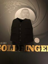 Big Chief Studios James Bond Goldfinger Oddjob Chaleco Negro Suelto Escala 1/6th