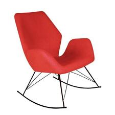 Bryce Designer Red Rocking Chair / Unique Seat /  Modern Accent Chair / New