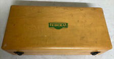 Federal Products Corporation Providence Rhode Island Empty Wood Case Display Box