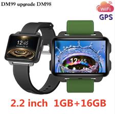 """Teléfono Reloj inteligente DM99 Android 5.1 2.2"""" pantalla táctil grande 3G Reloj Cámara Wifi Gps"""