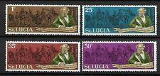 St.Lucia 1970 Charles Dickens Anniversary issue MNH set,Scott #278-281
