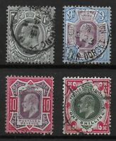 KEVII-7d.To 1s. V.Fine Used. Each Selected For Light Cancel.  Ref.0844