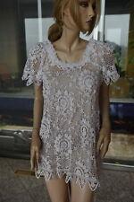 Lim's Classic Cotton Hand Crochet Mini Dress or Tunic White One Size