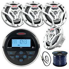 """Jensen MS3ARTL Marine Receiver, 4x 300-W 6.5"""" Speaker, Radio Antenna, 50Ft Wire"""