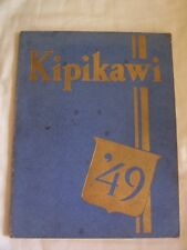 1949 WASHINGTON PARK HIGH SCHOOL YEARBOOK, RACINE, WISCONSIN  KIPIKAWI