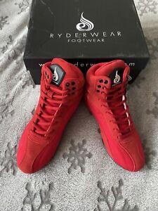Ryderwear D-Mak Originals Red Suede UK5 Men/UK6 Women