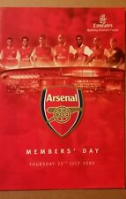 Arsenal F.C Members Day Programme 20/7/2006 First event at Emirates Stadium