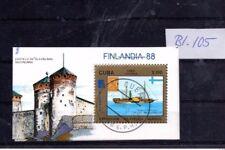 Block 105 Briefmarkenausstellung Finlandia 88