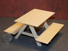 Dollhouse Miniature Garden Picnic Table 1:12 One Inch Scale Dollys Gallery E1A