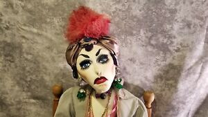 ONE-OF-A-KIND! Near life size VINTAGE Soft Sculpture Cloth Gypsy Fine Art Doll