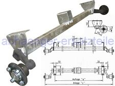 """HGW 750 kg. Achse """"erhöhte Böcke"""" MB8 von Schlegl - 1100 mm - 5*112"""