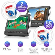 """Nextbase Car 7D Duel 7"""" Inch Twin Screen Portable In-Car DVD Player & Headphones"""