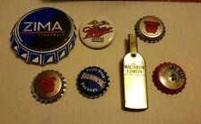 Vintage Beer Light Up Pin Lot Lapel~Zima~Red Dog~Bacardi~Killians~Mill er