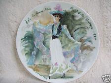 Lea la Femme Fleur 1900 D'Arceau Limoges Porcelain Plate w/ Box & Certificate