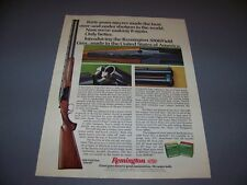 VINTAGE..REMINGTON 3200 FIELD GUN ... ORIGINAL SALES AD...RARE! (371F)