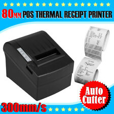 300mm/Sec 80mm Thermal Dot Receipt Printern AUTO-CUT Die Drucker Erhalt USB DE