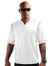 5928ce8151 Tri-Mountain Men s Polyester Short Sleeve Open Cuff Polo Casual Shirt.