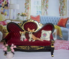 TINY CHIHUAHUA dog Handsculpted OOAK 1:12 realistic dollhouse miniature IGMA
