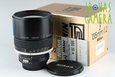 Nikon Nikkor 135mm F/2 Ais Lens With Box #12604E1