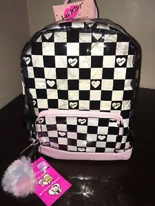 NEW Betsey Johnson CLEAR Checkered Backpack School Bag NWT!!!