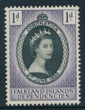 FALKLAND ISLANDS DEPENDENCIES 1953 G25 CORONATION  -  MH/MM