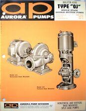 AURORA Split Case Pumps Catalog ASBESTOS Packing New York Air Brake Company 1967