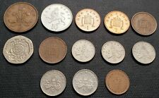 Lot of 13x Great Britain Foreign Coins - Various Dates and Denominations