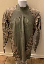 Massif Camo Shirt Men Size Medium Flame Resistant Hiram Battle Long Sleeve