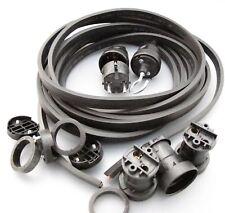 IKu ® Illu Lichterkette E 27  Bausatz 25 Meter 50 Fassungen schwarzes Kabel