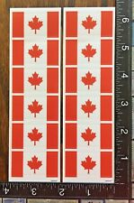 CANADA DAY FLAGS, TWO LITTLE SHEET STICKERS BEAUTIFUL DESIGNS #MAPLE7